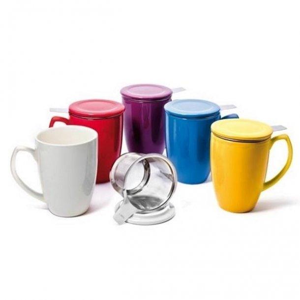 Shamila® Krus med filter og lokk, 0,35 l - 10 ulike farger!